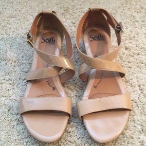 Wedge patent sandals